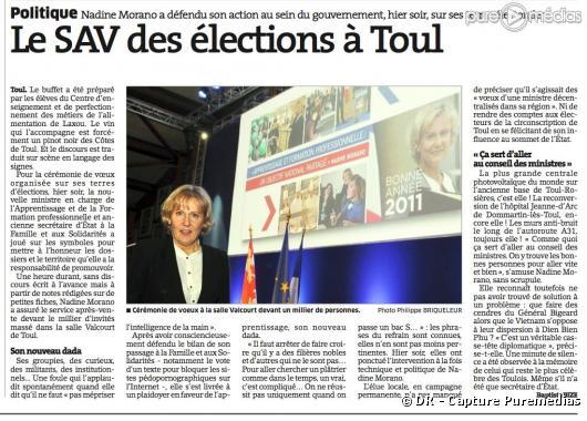 """""""L'Est Républicain"""" du 22 janvier 2011"""