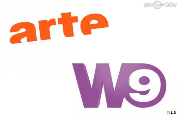 Les logos d'Arte et W9.