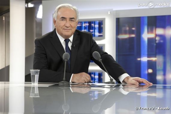 Dominique Strauss-Kahn invité de Laurent Delahousse, le 20 février 2011 sur France 2