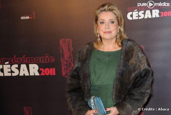 Catherine Deneuve, le 26 février 2011 lors des César