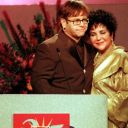 Elizabeth Taylor avec Elton John en 1996.