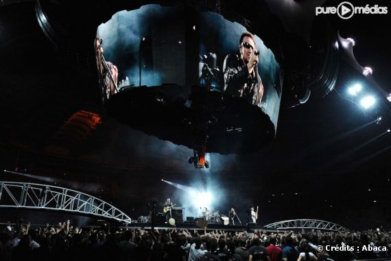 U2 lors de sa tournée 360