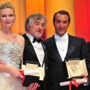 Kirsten Dunst, Jean Dujardin et Robert De Niro, Cannes 2011.