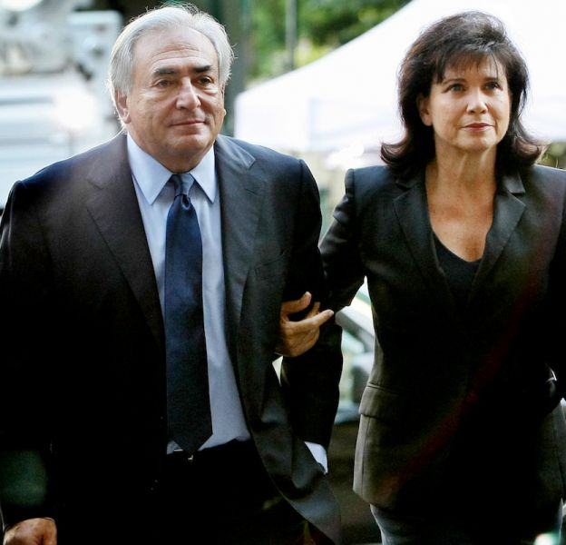 DSK et Anne Sinclair lors de leur arrivée au tribunal.