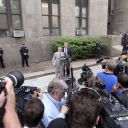 Les avocats de DSK parlent à la presse après l'audience, le 6 juin 2011 à New York.