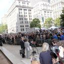 Les médias étaient très nombreux pour couvrir l'audience de DSK, le 6 juin 2011 à New York.
