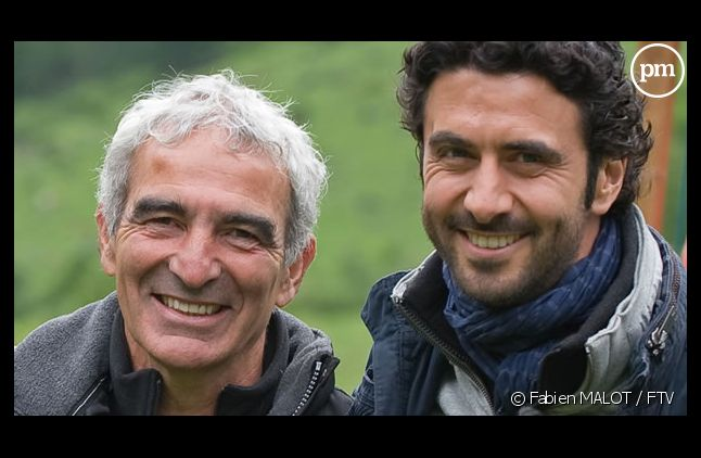 "<meta charset=""utf-8"" /> <div>Raymond Domenech et Alexandre Ruiz dans ""L'Etoffe des champions"", en 2011 sur France 3</div>"