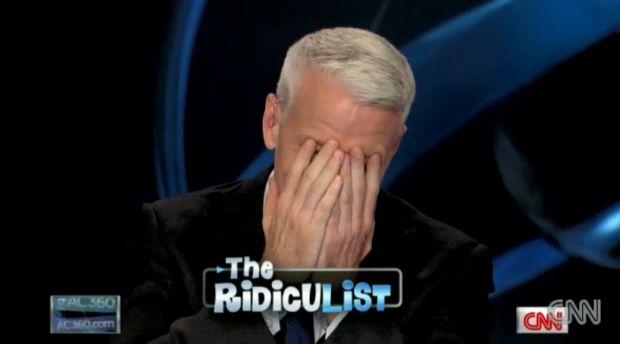 Anderson Cooper pris d'un fou rire dans son émission