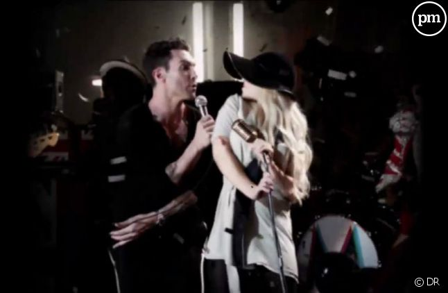 "Adam Levine et Christina Aguilera dans le clip ""Moves Like Jagger"" de Maroon 5"