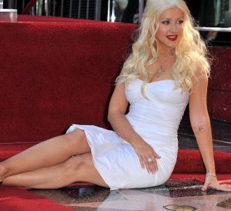 Christina Aguilera accepte son étoile sur le Hollywood...
