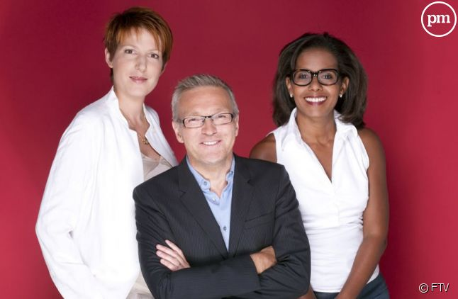 Natacha Polony, Laurent Ruquier et Audrey Pulvar.
