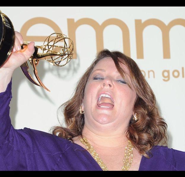 Melissa McCarthy après sa victoire aux Emmy Awards 2011