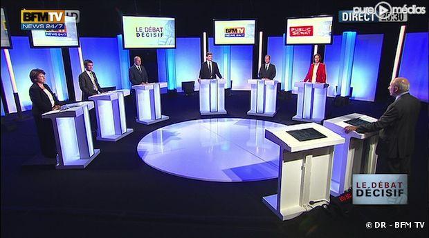 Le troisième débat des primaires socialistes, le 5 octobre 2011 sur BFM TV