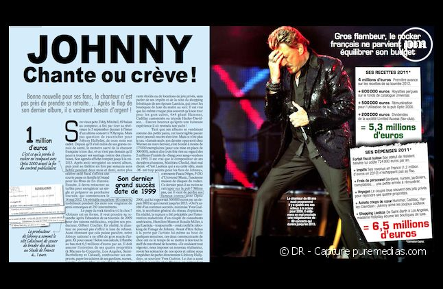 """Le mensuel """"Capital"""" enquête sur le train de vie de Johnny Hallyday dans son numéro de décembre 2011"""