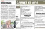 """La Voix du Nord : Un homme centenaire """"fringant"""" page 24... et décédé page 28"""