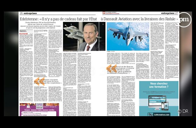 """""""Le Figaro"""", daté du 12 décembre 2011."""