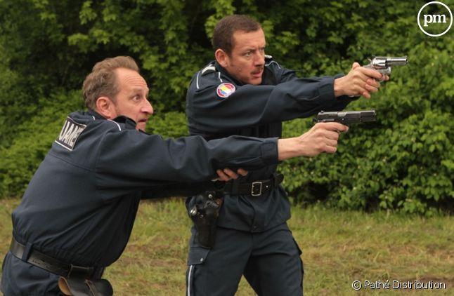 "Dany Boon et Benoît Poelvoorde dans ""Rien à déclarer"""
