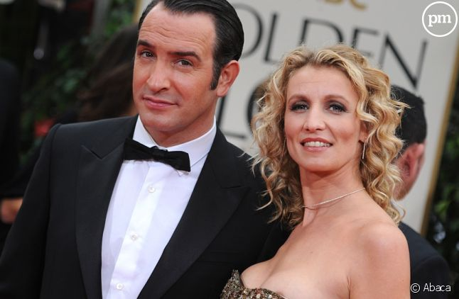Jean Dujardin et Alexandra Lamy aux Golden Globes 2012