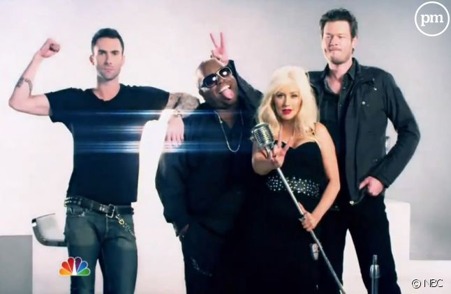 "Le jury de ""The Voice"" aux Etats-Unis"