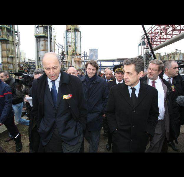 Nicolas Sarkozy et Laurent Fabius, le 24 février 2012.