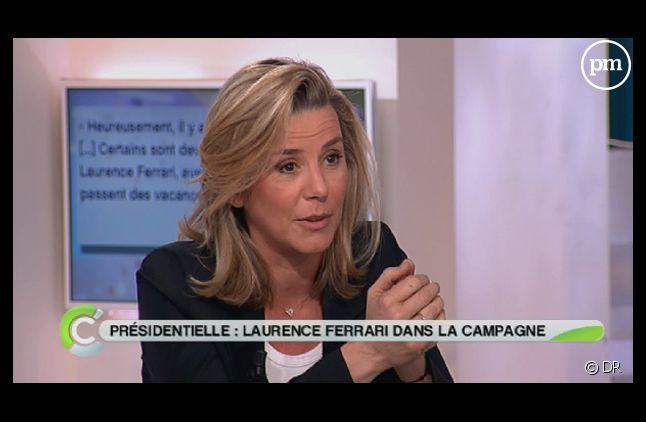 """Laurence Ferrari, sur le plateau de """"C à vous"""" le 2 mars 2012."""