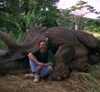 Steven Spielberg sur le tournage de 'Jurassic Park'