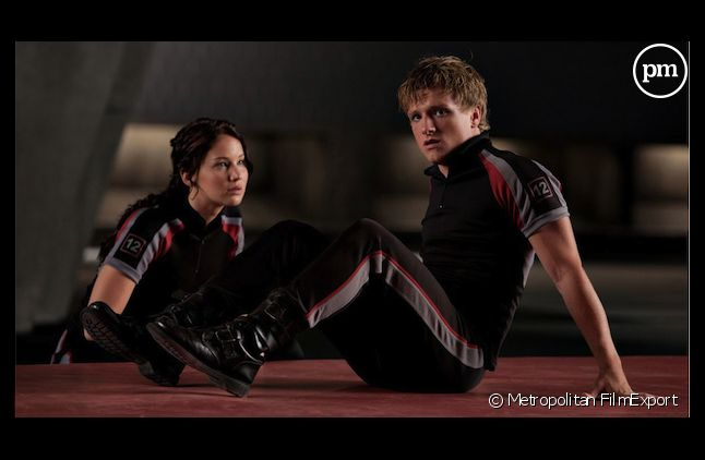 "Jennifer Lawrence et Gary Ross dans ""Hunger Games"""
