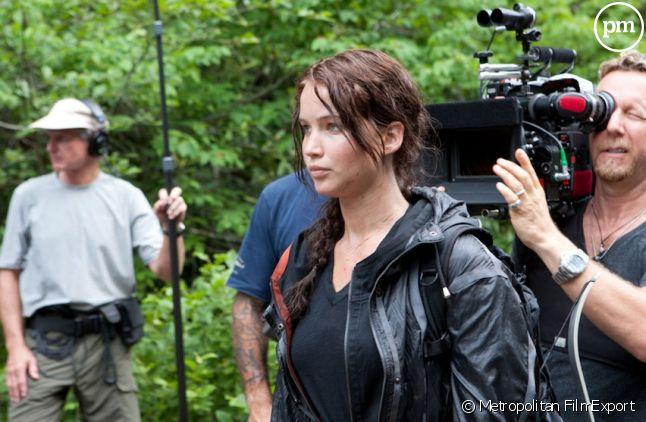 "Jennifer Lawrence sur le tournage de ""Hunger Games"""