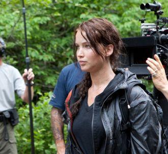 Jennifer Lawrence sur le tournage de 'Hunger Games'