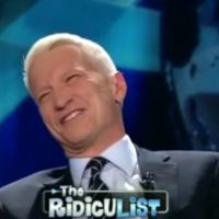 Zapping : nouveau fou rire d'Anderson Cooper sur CNN