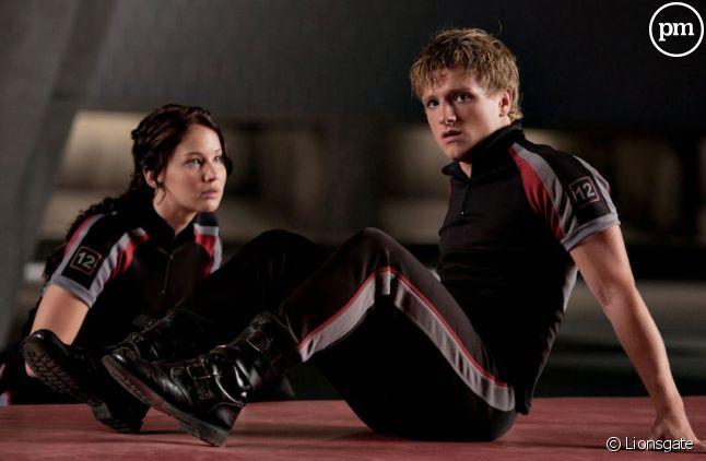 "Jennifer Lawrence et Josh Hutcherson dans ""Hunger Games"""