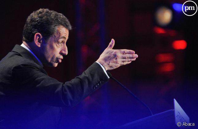 Nicolas Sarkozy le 19 avril à<span> Saint-Maurice dans le Val de Marne.</span>