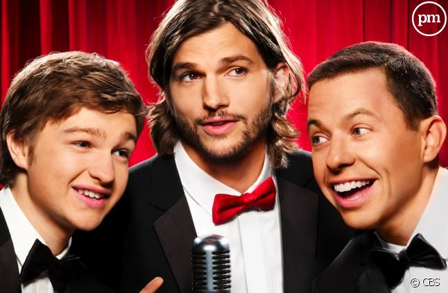 "Angus T. Jones, Ashton Kutcher et Jon Cryer dans ""Mon Oncle Charlie"""