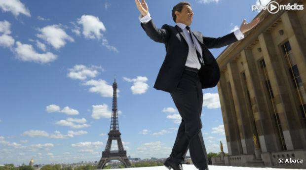 Nicolas Sarkozy, place du Trocadéro à Paris le 1er mai 2012.