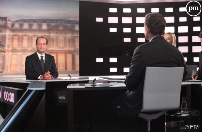 François Hollande, lors du débat présidentiel du 2 mai 2012.