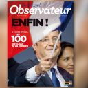 La Une du Nouvel Observateur du 7 mai 2012.