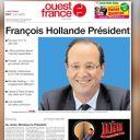 La Une de Ouest France du 7 mai 2012.