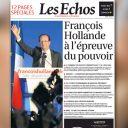 La Une des Echos du 7 mai 2012.