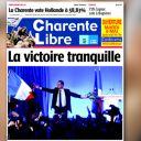 La Une de La Charente Libre du 7 mai 2012.