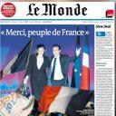 A la Une du Monde, daté du 8 avril 2012.