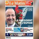 A la Une du Matin (Belgique), le 7 mai 2012.