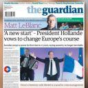 A la Une de The Guardian, le 7 mai 2012.