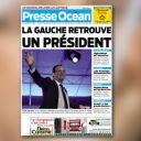 A la Une de Presse Océan, le 7 mai 2012.