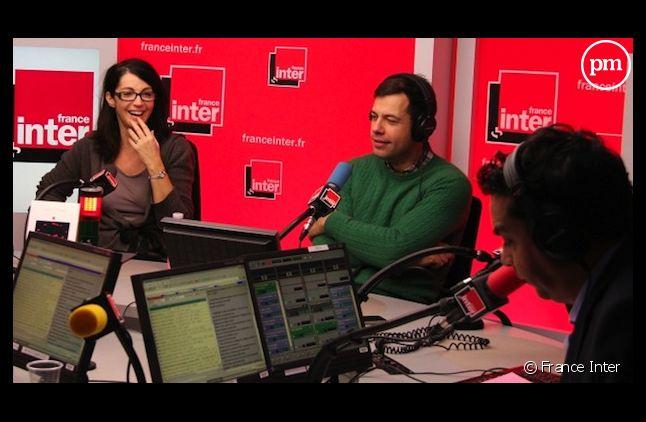 """Visite surprise de Zabou Breitman et Laurent Lafitte pour un """"A votre écoute coûte que coûte"""" sur la fin du monde."""