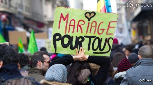 <span>Manifestation en faveur du mariage pour tous, le samedi 26 janvier à Lyon.</span>