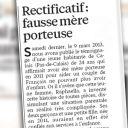 """Alerté par la mère de Raphaella sur le témoignage mensonger, """"Le Parisien/Aujourd'hui en France"""" s'en explique."""