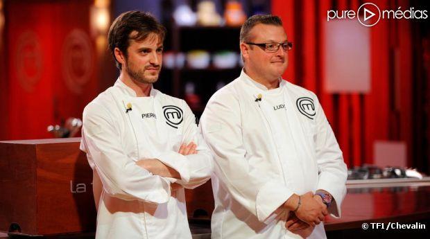 """Pierre et Ludovic, finalistes de """"Masterchef"""" 2012."""