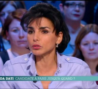 Rachida Dati, dans 'Le Grand Journal' de Canal+.