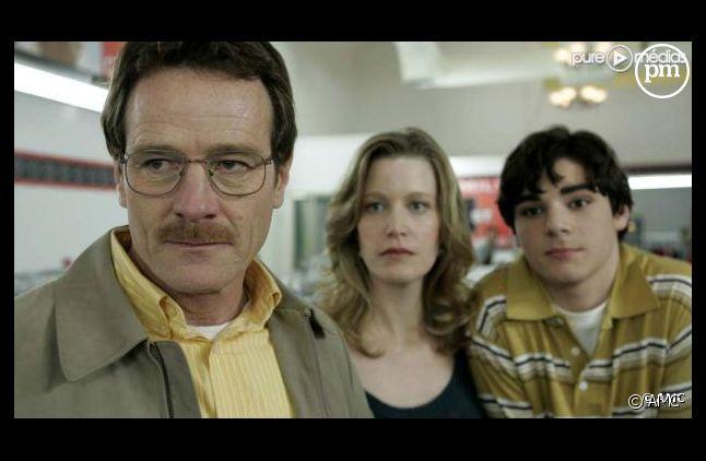 """Bryan Cranston, Anna Gunn et RJ Mitte dans """"Breaking Bad"""""""