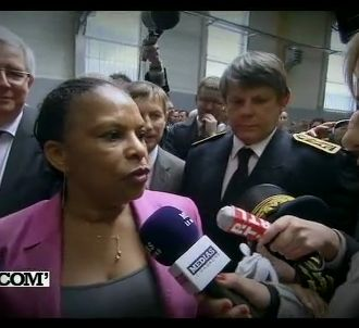 Christiane Taubira, interrogée sur France 5.